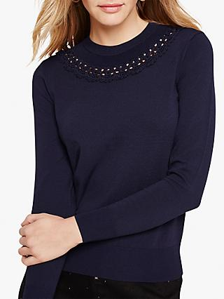 Damsel in a Dress Kora Crochet Jumper, Navy