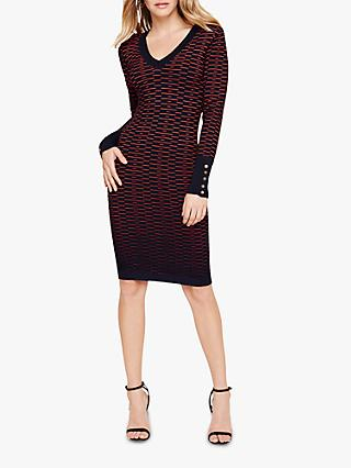 Damsel in a Dress Fiana Knit Dress, Navy/Orange