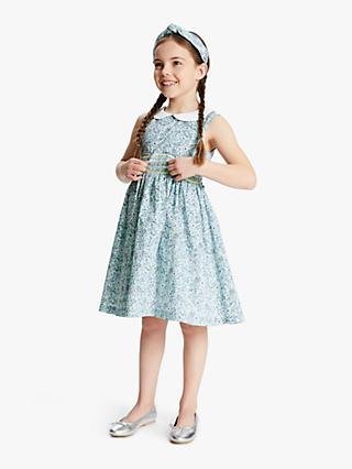 John Lewis & Partners Heirloom Collection Girls' Ditsy Floral Dress, Blue