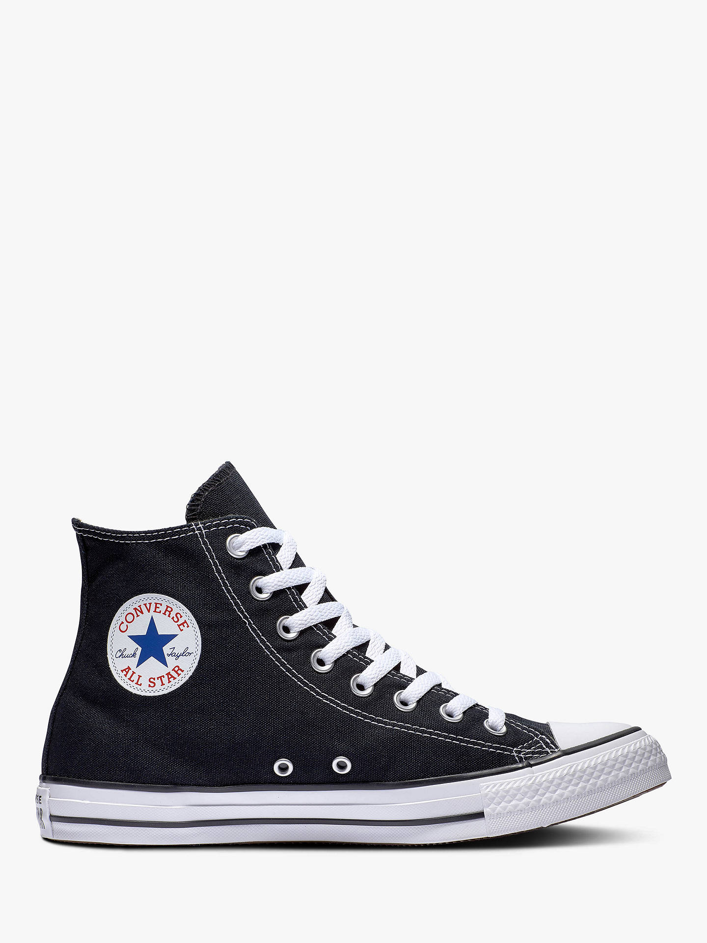 485d2f2361c Buy Converse Chuck Taylor Hi-Top Trainers, Black, 9 Online at johnlewis.