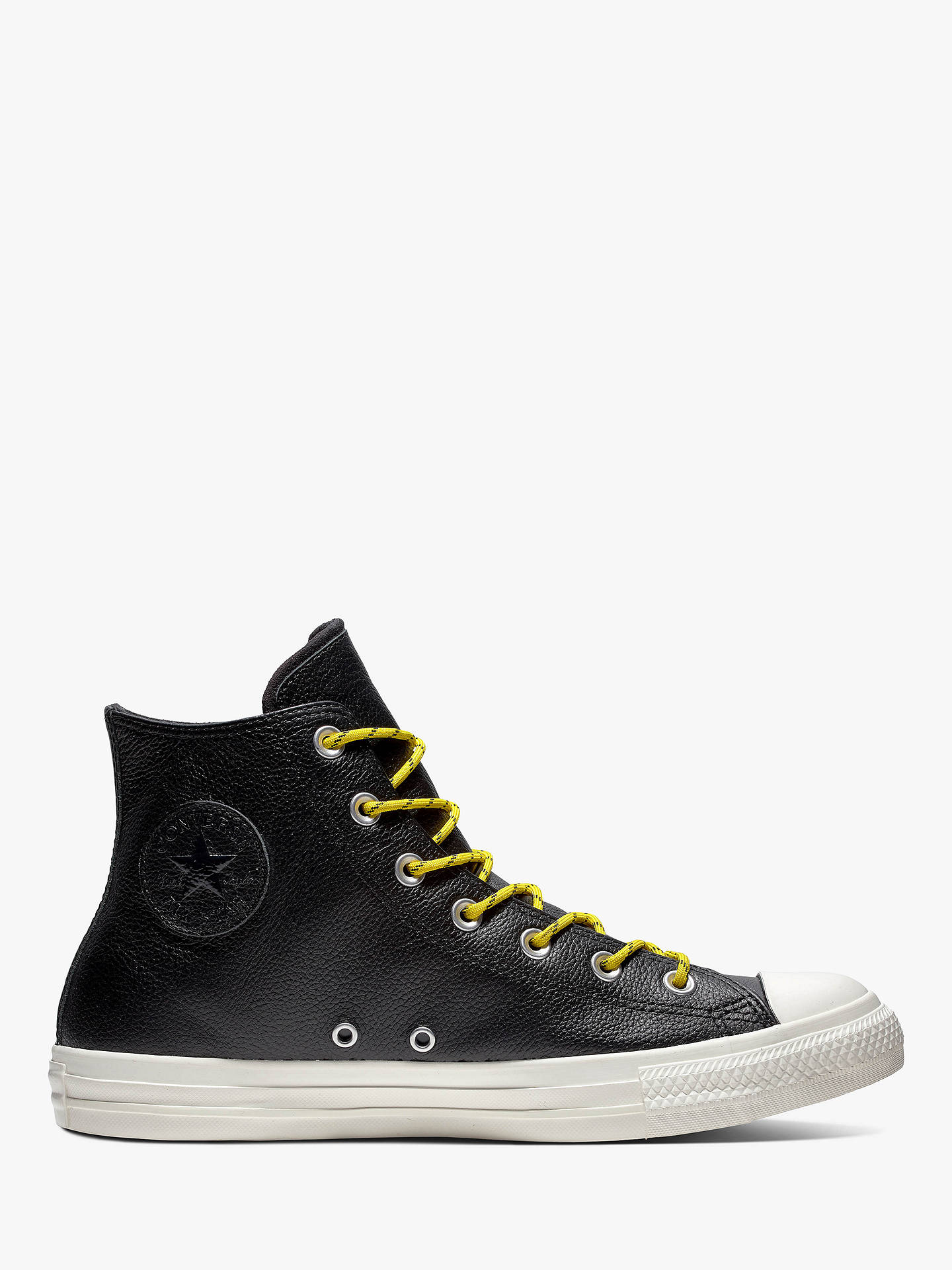 91b615b6f293 Converse Chuck Taylor Leather Hi-Top Leather Trainers at John Lewis ...
