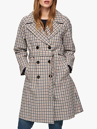 Selected Femme Anka Check Belted Coat, Multi
