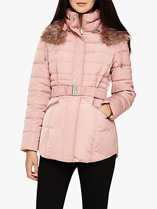 Phase Eight Paula Puffer Jacket, Blush Pink