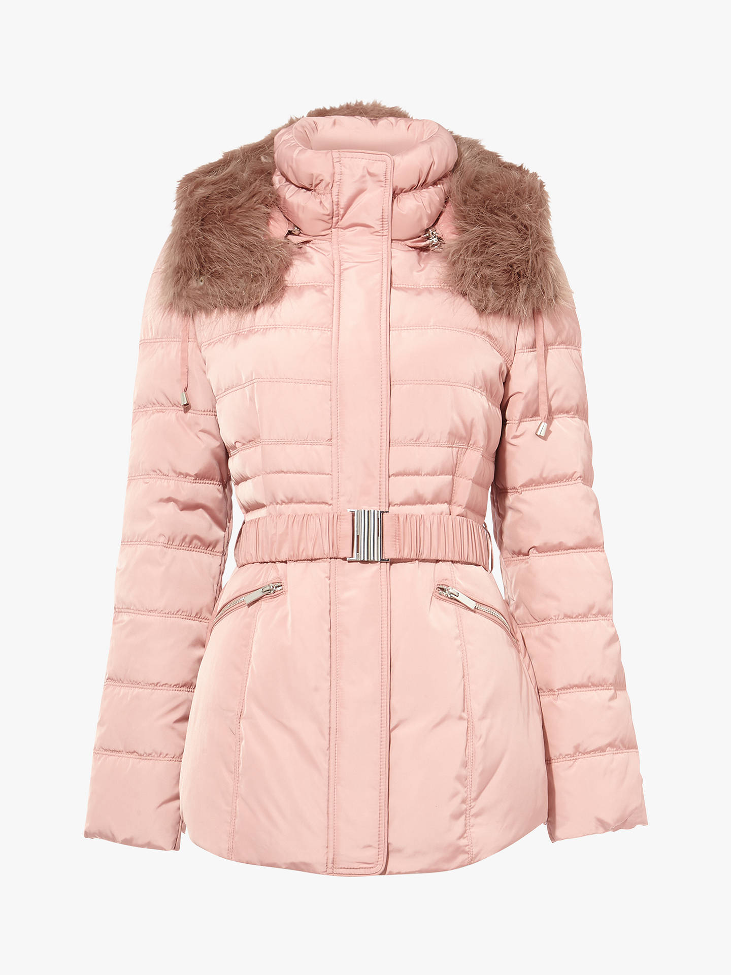 BuyPhase Eight Paula Puffer Jacket, Blush Pink, 16 Online at johnlewis.com