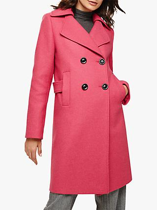 Phase Eight Fairlie Double Breasted Coat, Candy