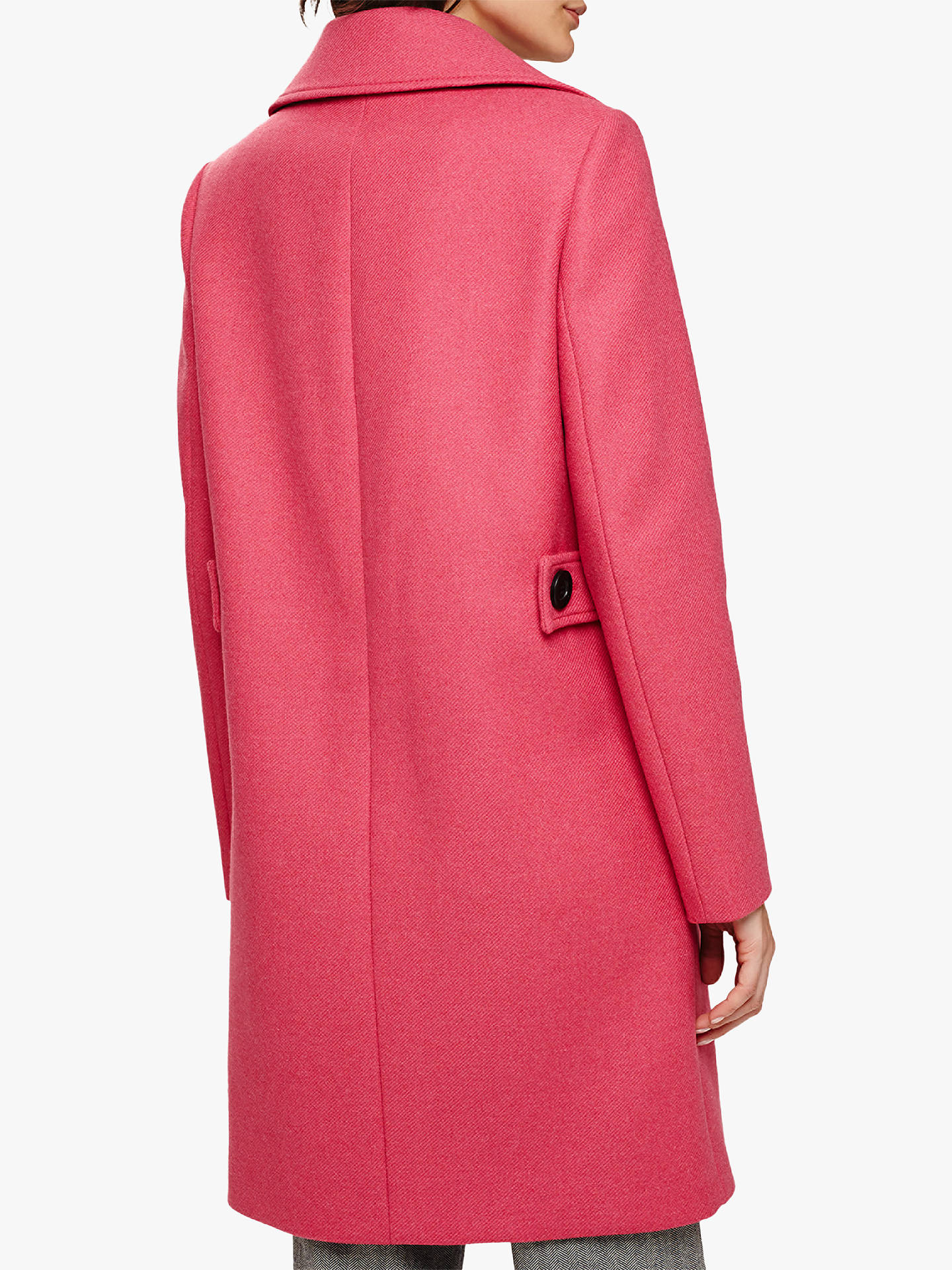 Buy Phase Eight Fairlie Double Breasted Coat, Candy, 16 Online at johnlewis.com