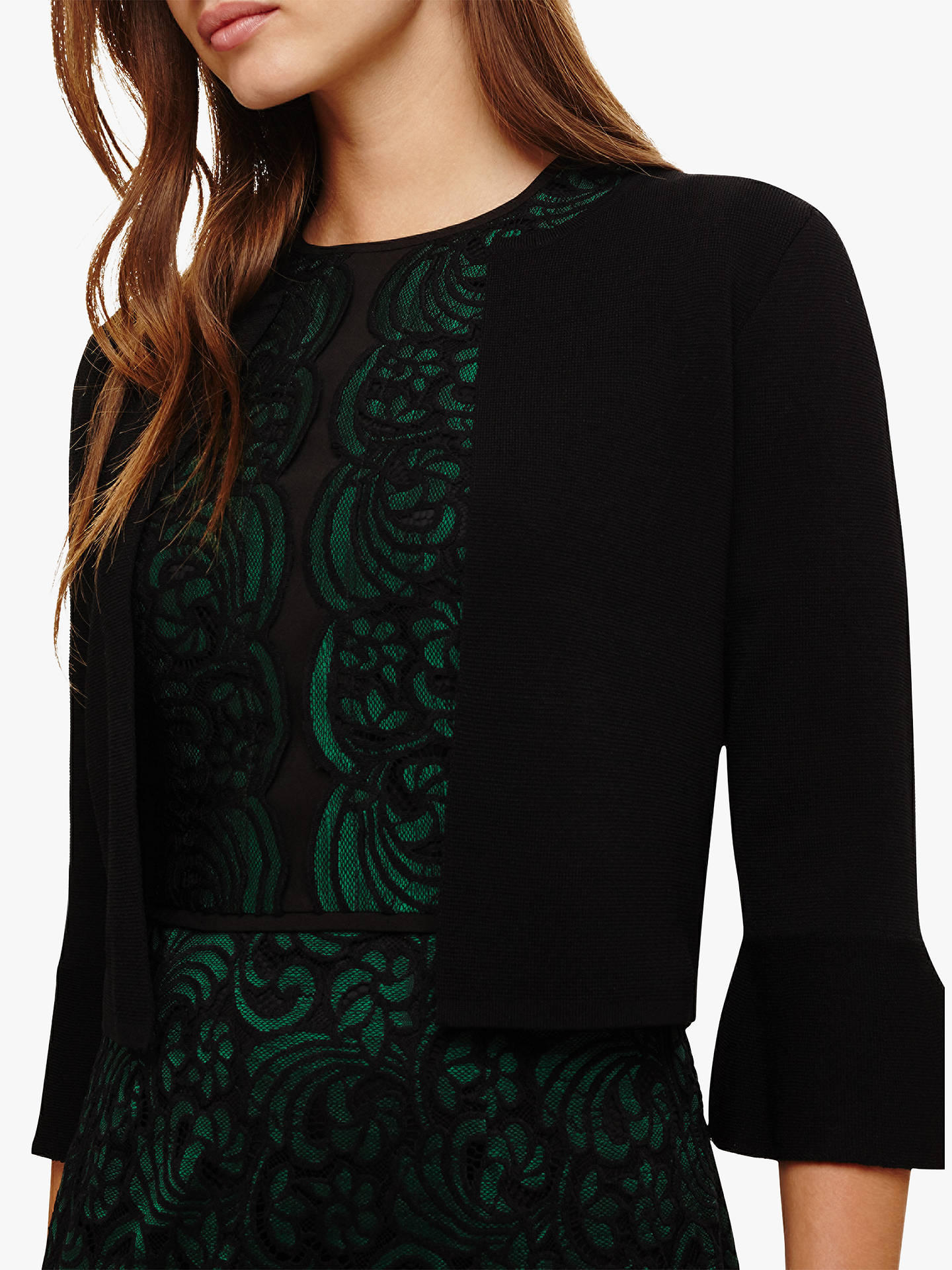 BuyPhase Eight Francisca Flute Sleeve Cardigan, Black, 8 Online at johnlewis.com