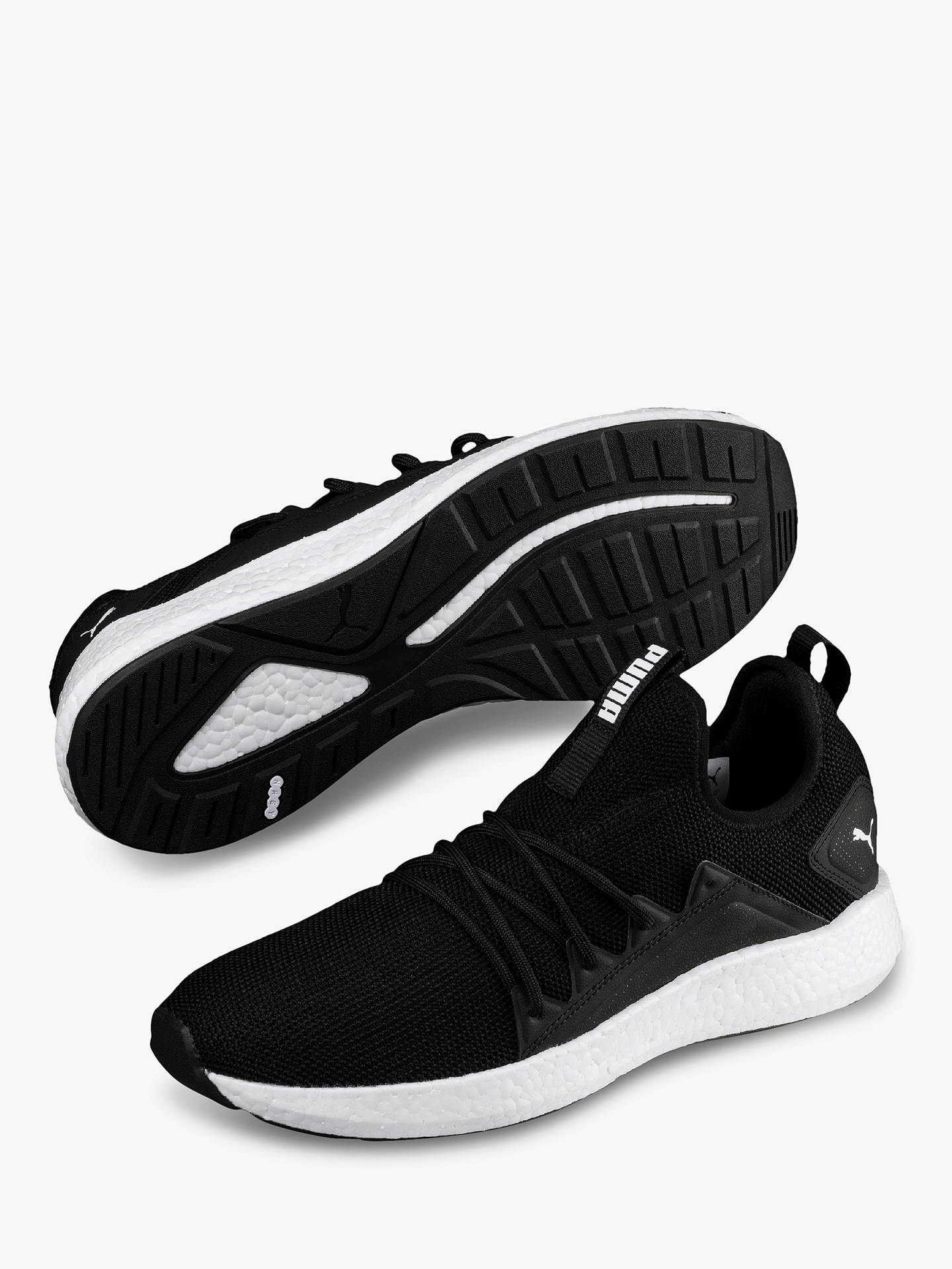 0e3559a6 PUMA NRGY Neko Knit Men's Running Shoes, Black at John Lewis & Partners