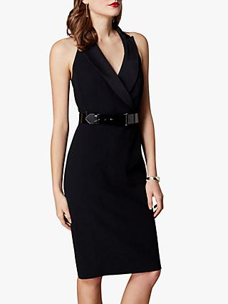 Karen Millen Halterneck Tux Dress, Black