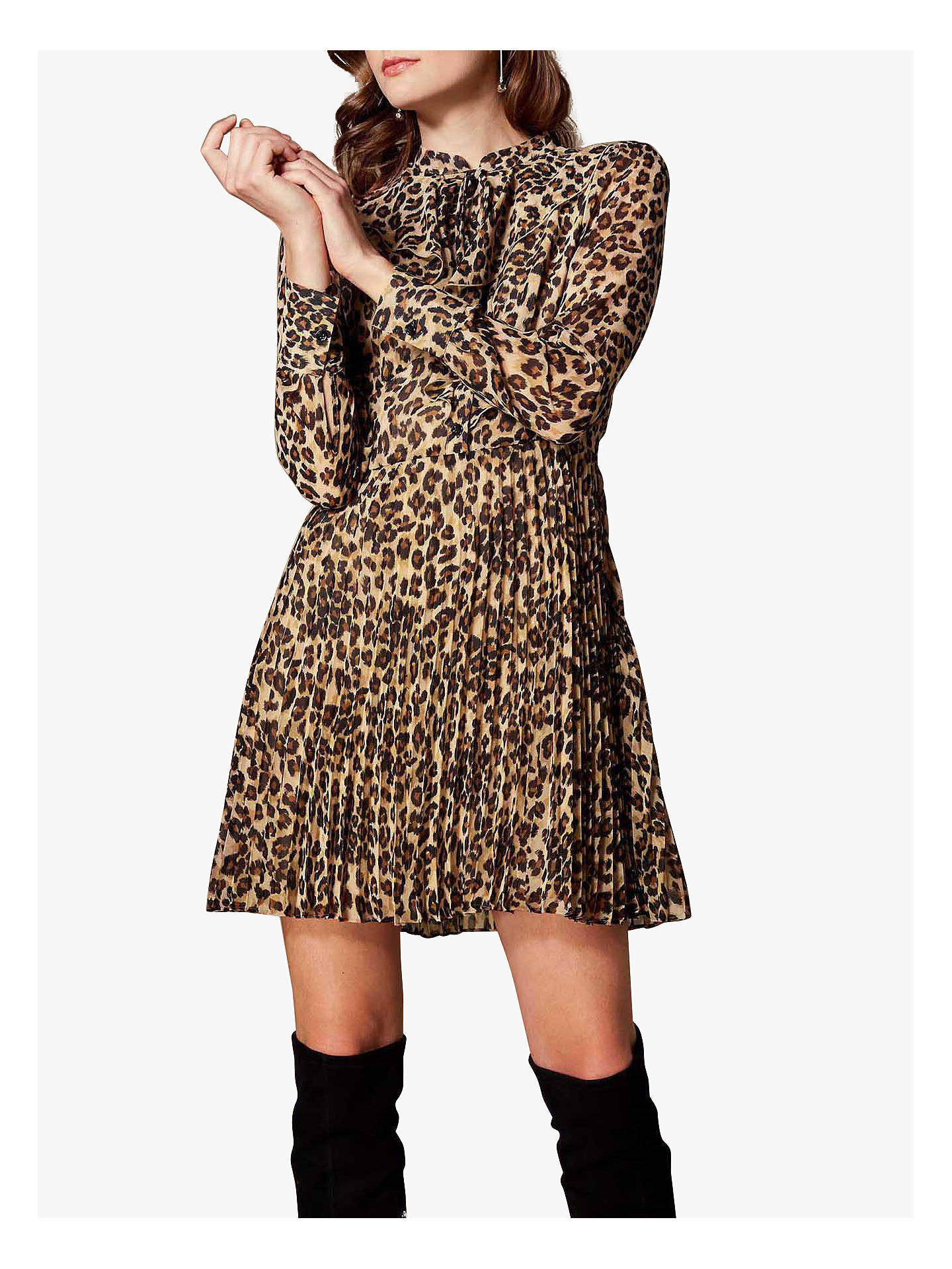 87c1013dc957 Buy Karen Millen Leopard Print Ruffle Dress, Multi, 6 Online at  johnlewis.com ...