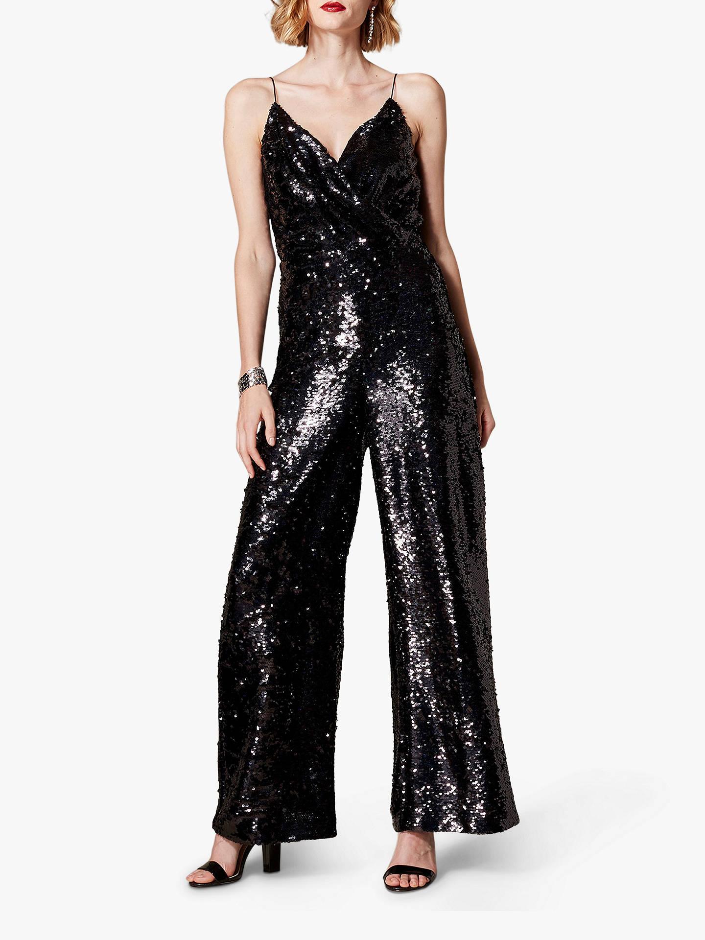 wide selection buy popular best selection of 2019 Karen Millen Sequin Jumpsuit, Black at John Lewis & Partners