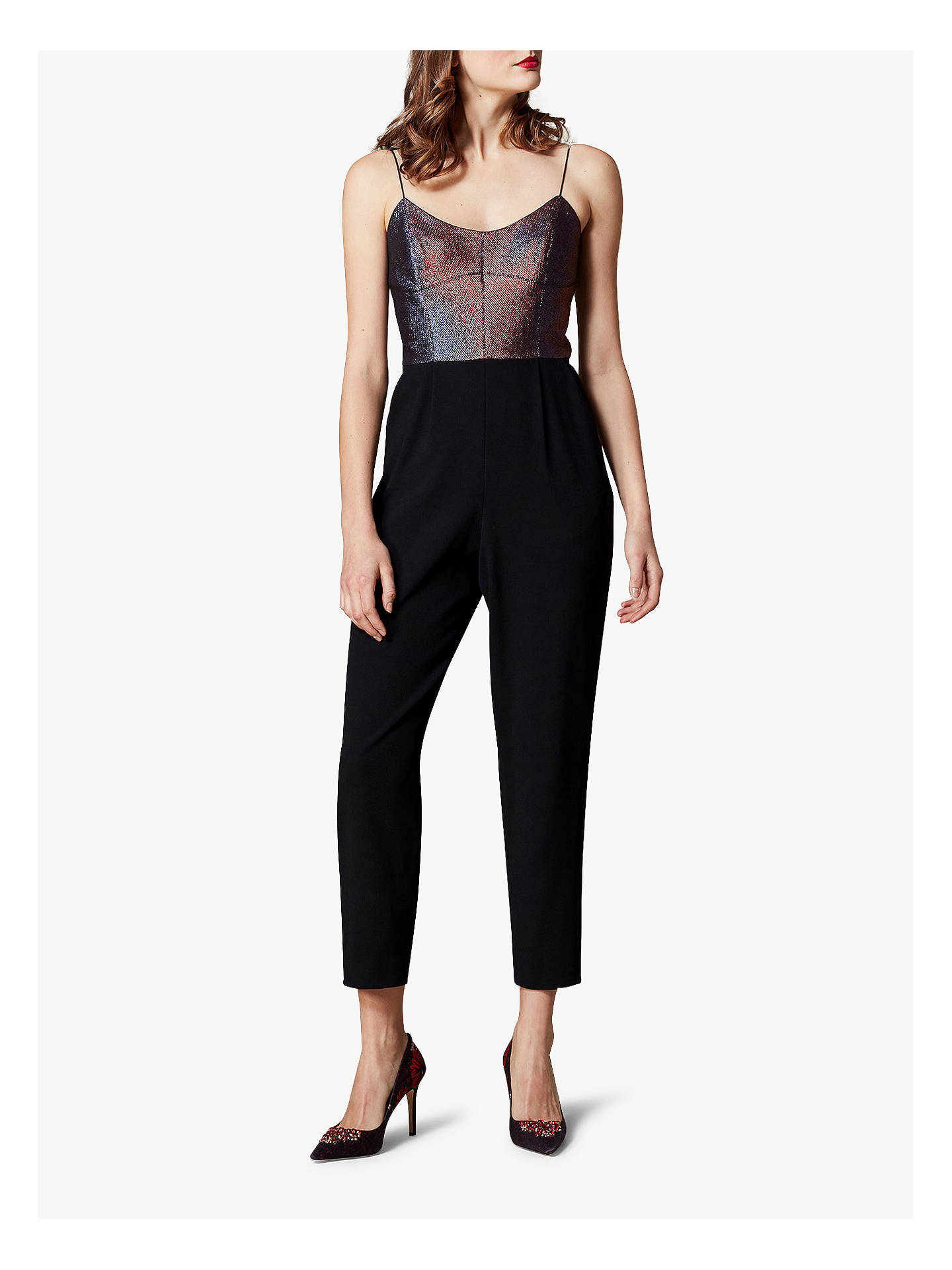 41fe6154806 Buy Karen Millen Metallic Top Jumpsuit