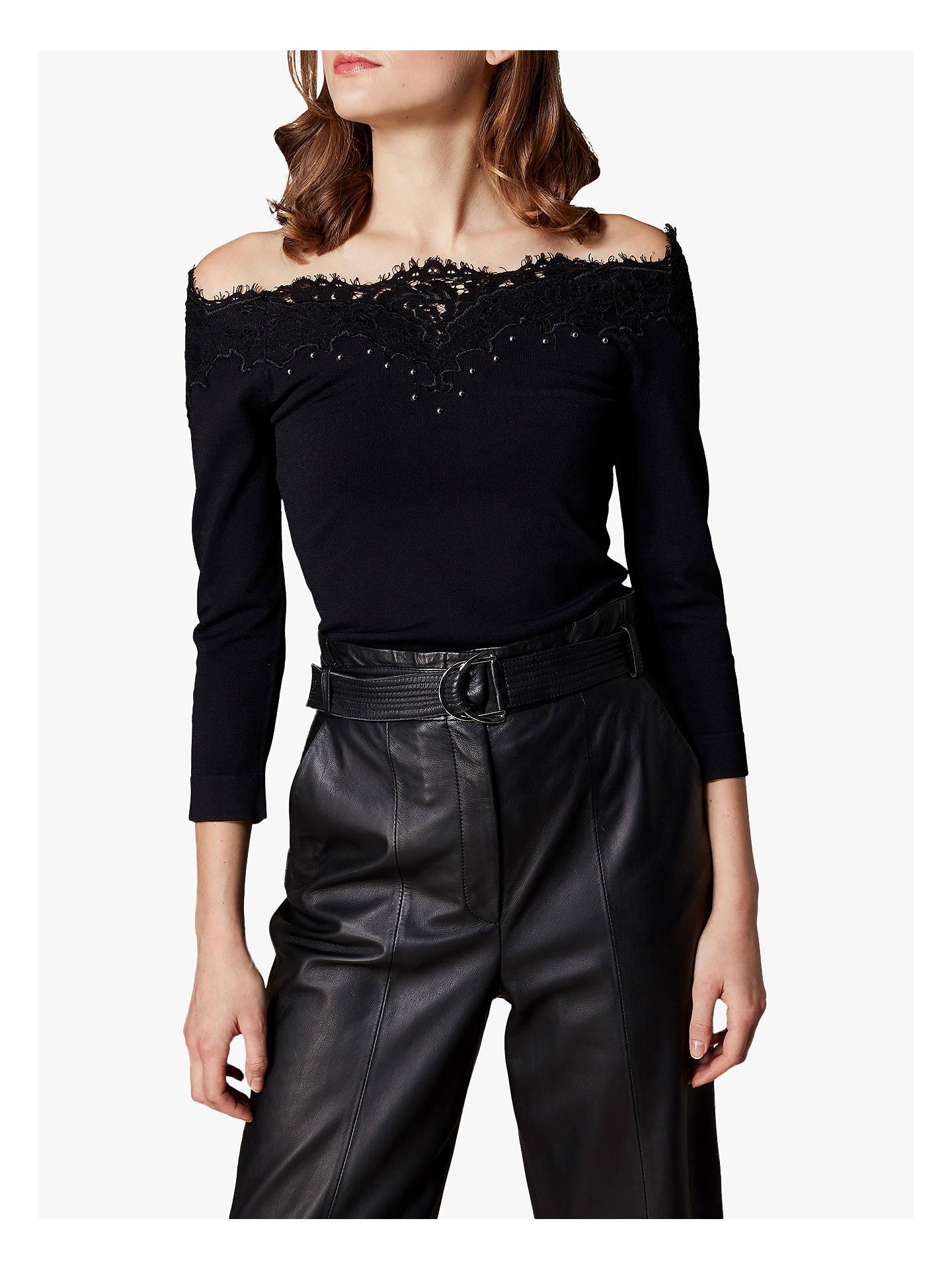 ab5fd5291fad4 Buy Karen Millen Lace Bardot Top