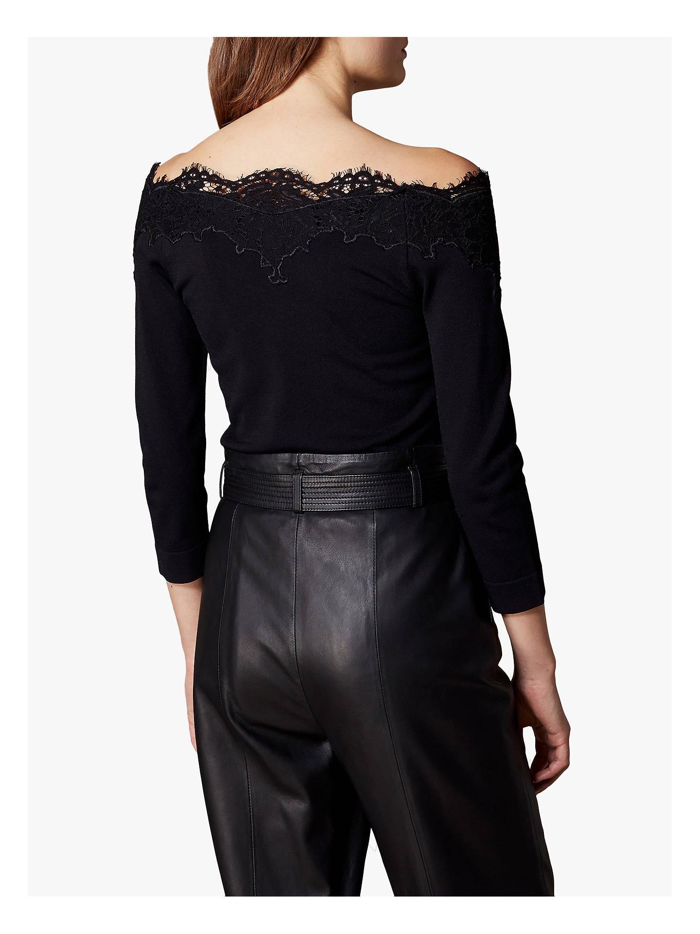 dd7cb8b9fb8ce ... Buy Karen Millen Lace Bardot Top