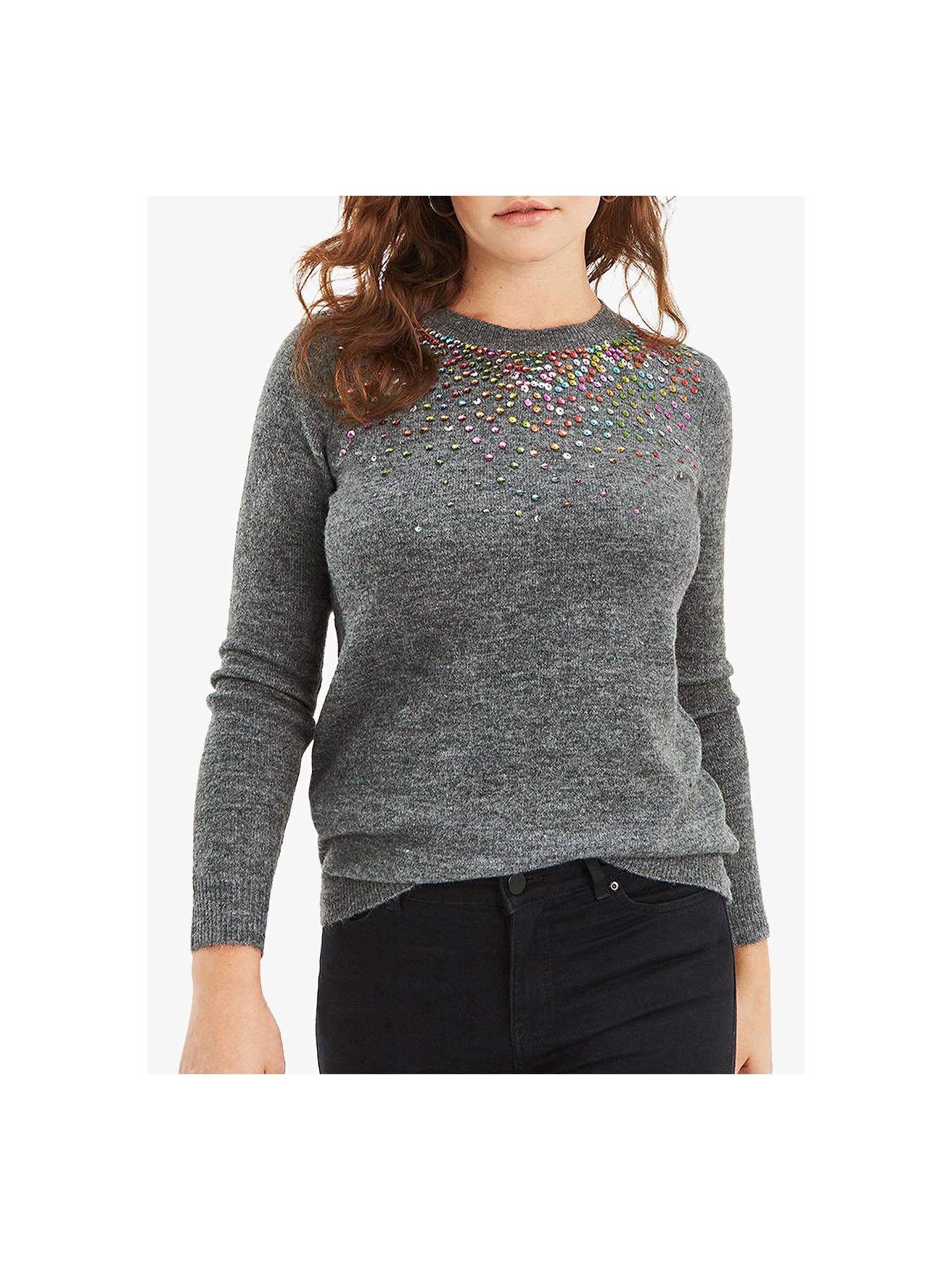 4d1a1bd28072 Buy Oasis Adeline Jumper, Grey, S Online at johnlewis.com ...