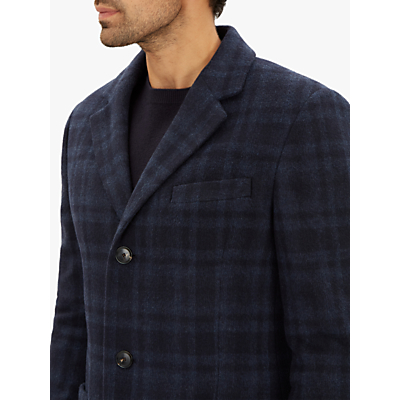 Jaeger Patch Pocket Check Overcoat