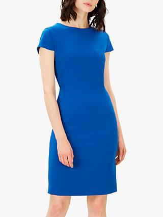 Jaeger Fitted Mini Dress, Blue