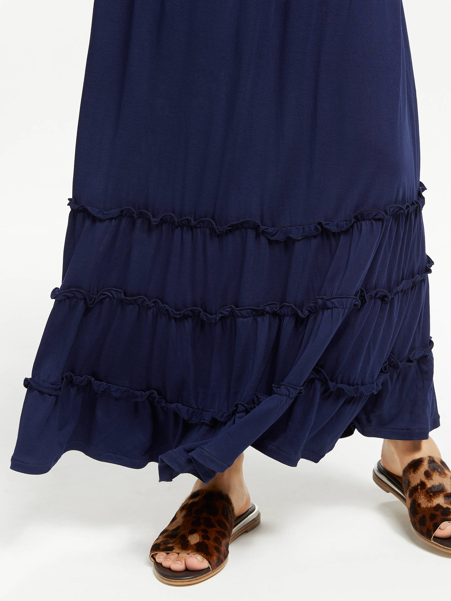 14c76dd4bce ... Buy John Lewis & Partners Bandeau Jersey Maxi Dress, Navy, S Online at  johnlewis ...