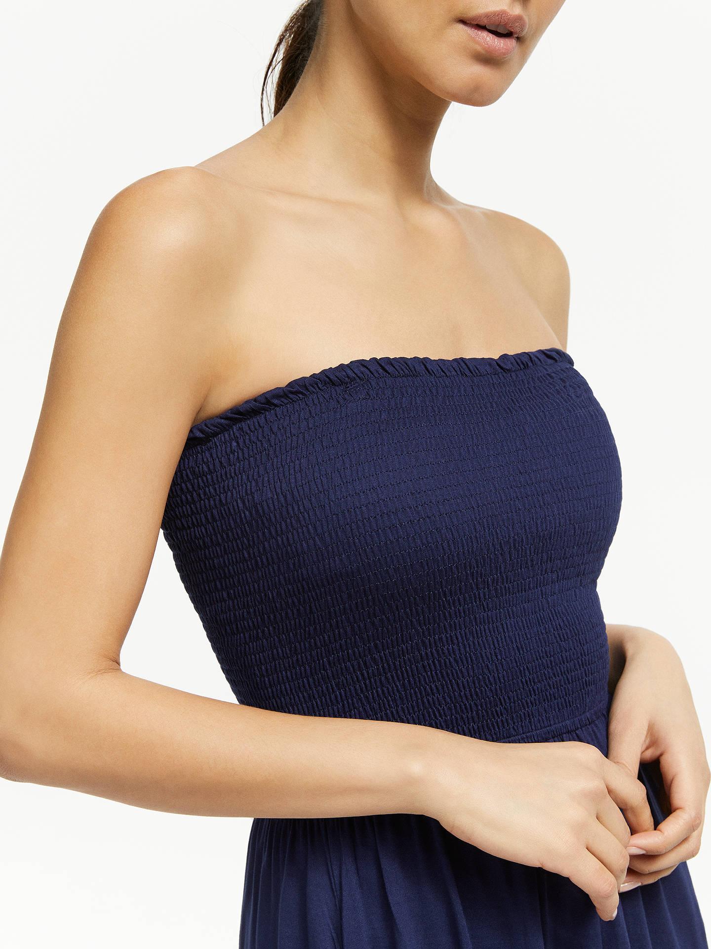bc93befe7c5 ... Buy John Lewis & Partners Bandeau Jersey Maxi Dress, Navy, S Online at  johnlewis