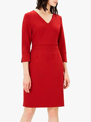 Jaeger Piping Detail Dress, Red