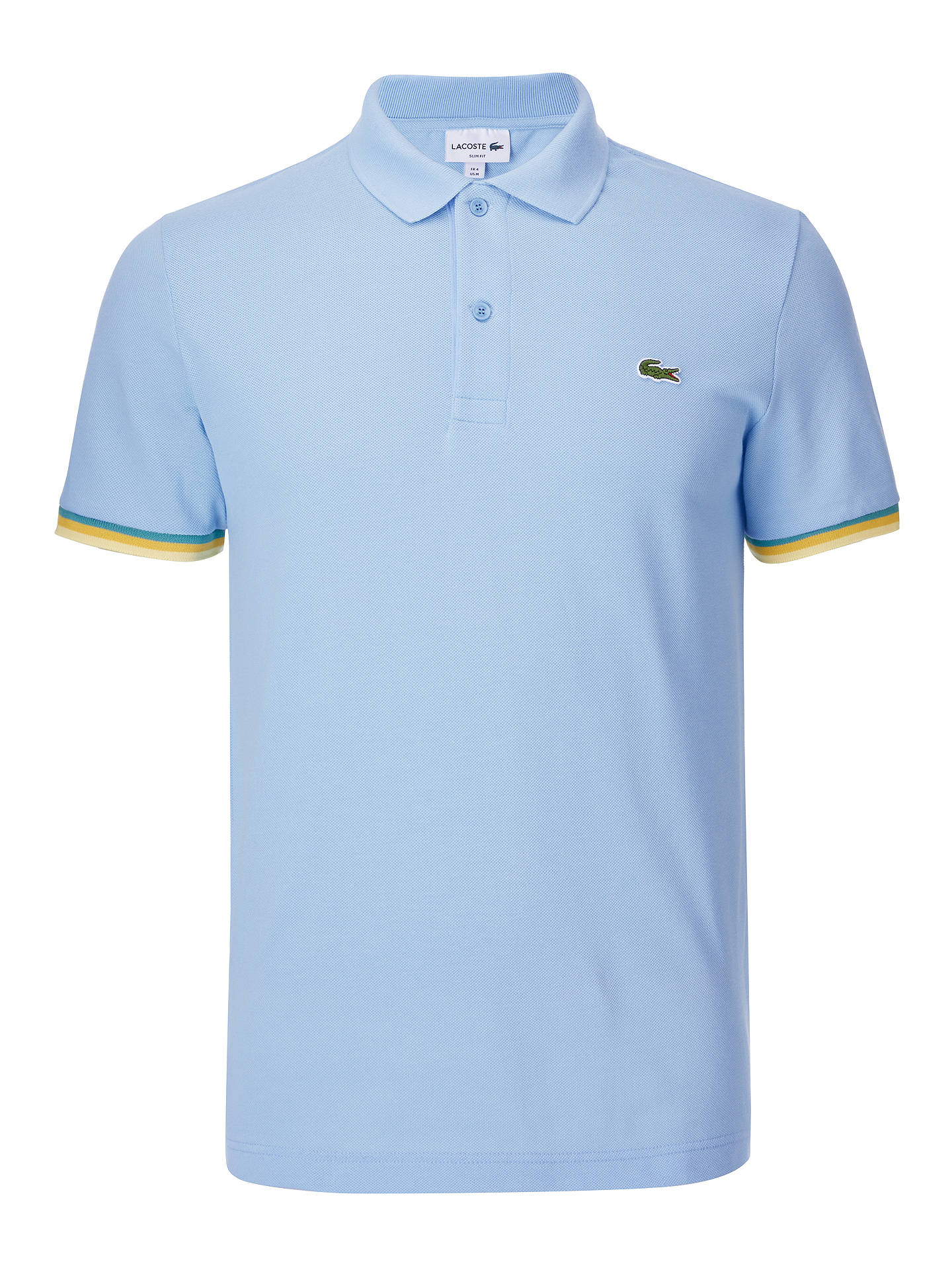 beb57f983d ... Buy Lacoste Tipped Short Sleeve Polo Shirt, Blue, XL Online at  johnlewis.com