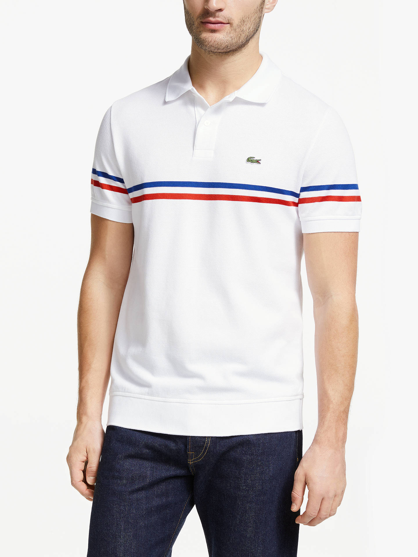 5912232e2 Buy Lacoste Made in France Short Sleeve Polo Shirt, White, M Online at  johnlewis ...