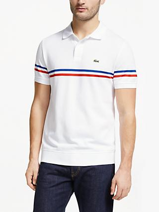 052fc813 Lacoste Made in France Short Sleeve Polo Shirt, White