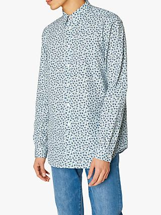PS Paul Smith Floral Tailored Fit Shirt, Blue