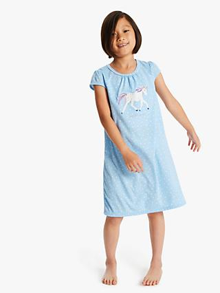 6c2a6ec72 John Lewis & Partners Girls' Unicorn Print Night Dress, ...