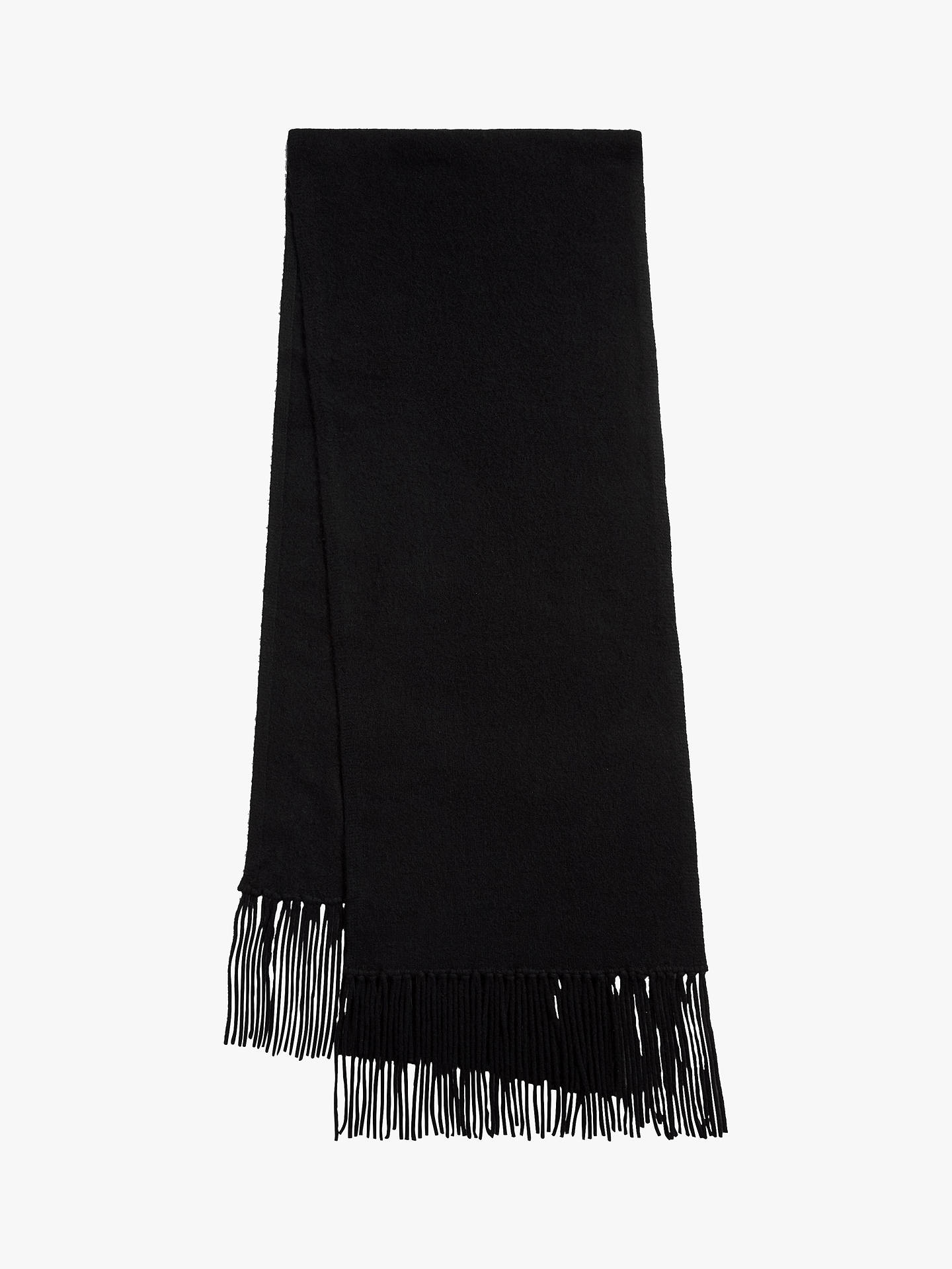 BuyAllSaints Boiled Wool Scarf, Black, One Size Online at johnlewis.com