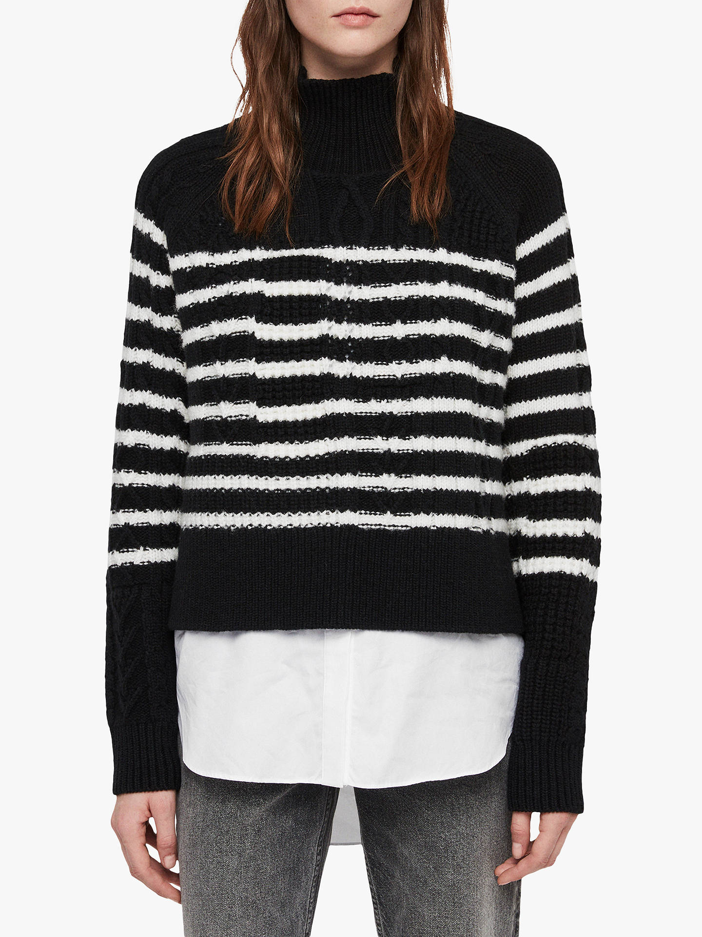7cc85fe9f Buy AllSaints Mari Roll Neck Stripe Jumper