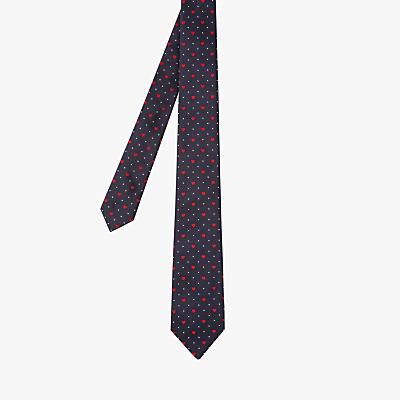 Paul Smith Dot Heart Silk Tie, Navy