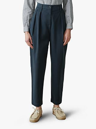 8e8bab0871ed Toast Cotton Twill Tapered Trousers