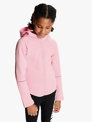 PUMA Girls' Evo Stripe Move Hoodie, Pink