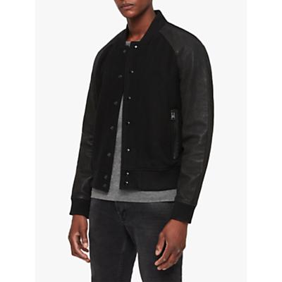 AllSaints Elton Bomber Jacket, Black