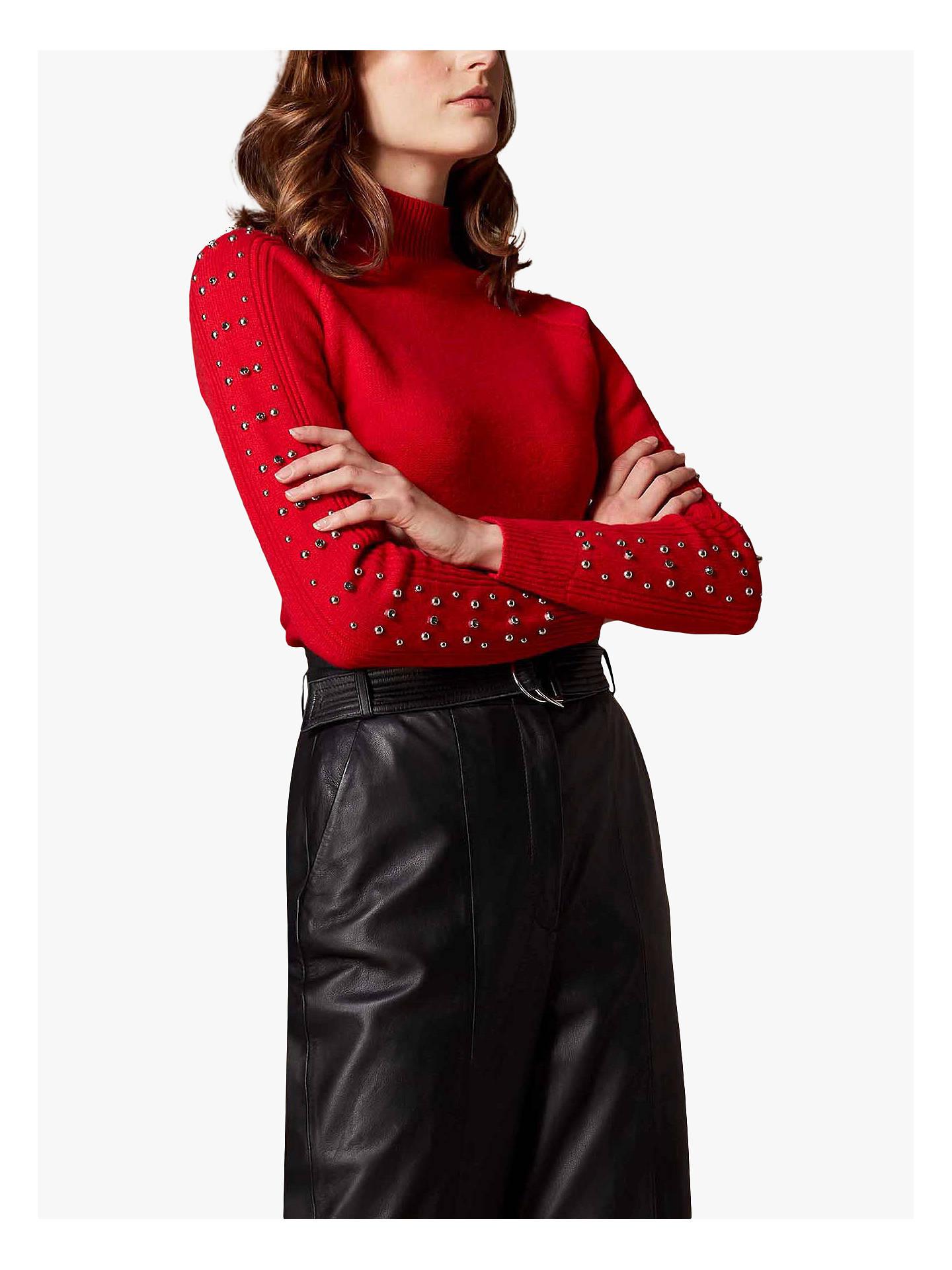 3223947d1d13 Buy Karen Millen Embellished Sleeve Jumper