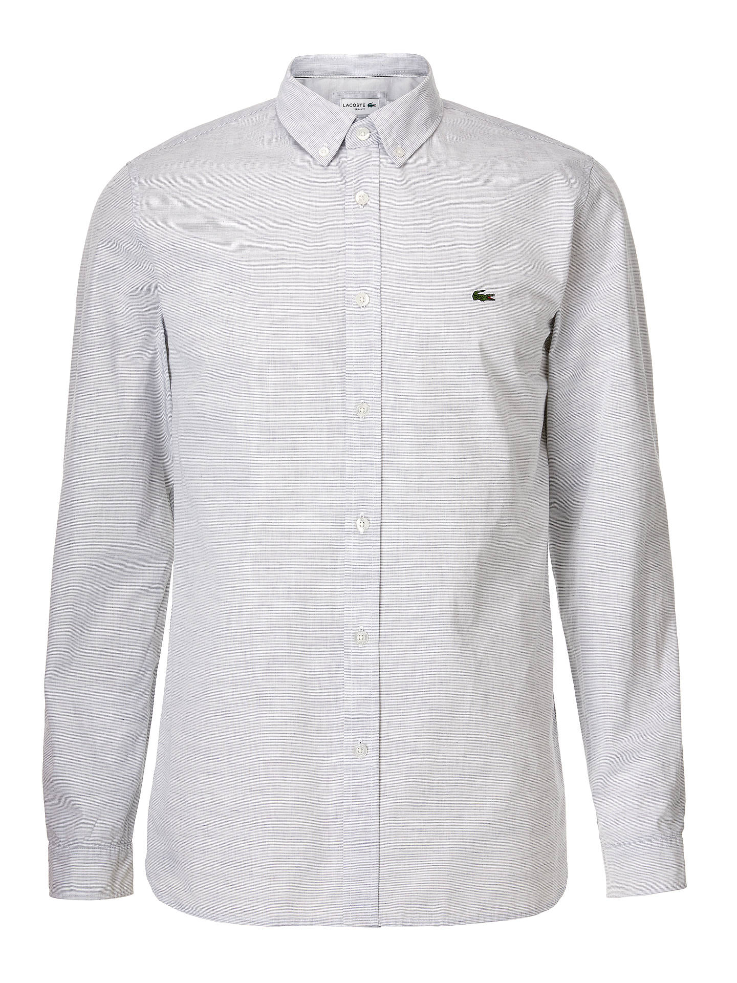 3dff277420 Lacoste Long Sleeve Slim Fit Textured Shirt, White at John Lewis ...