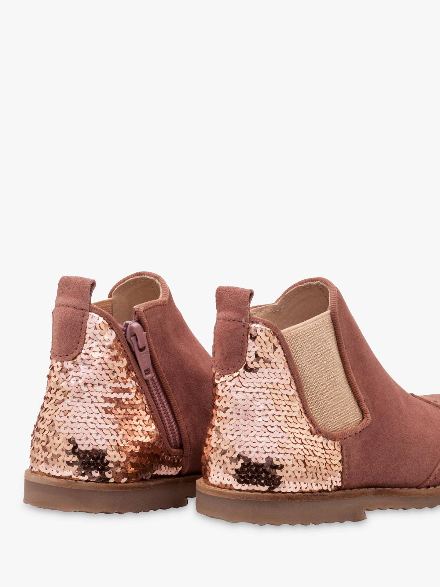 Mini Boden Children S Sequin Leather Chelsea Boots Mink