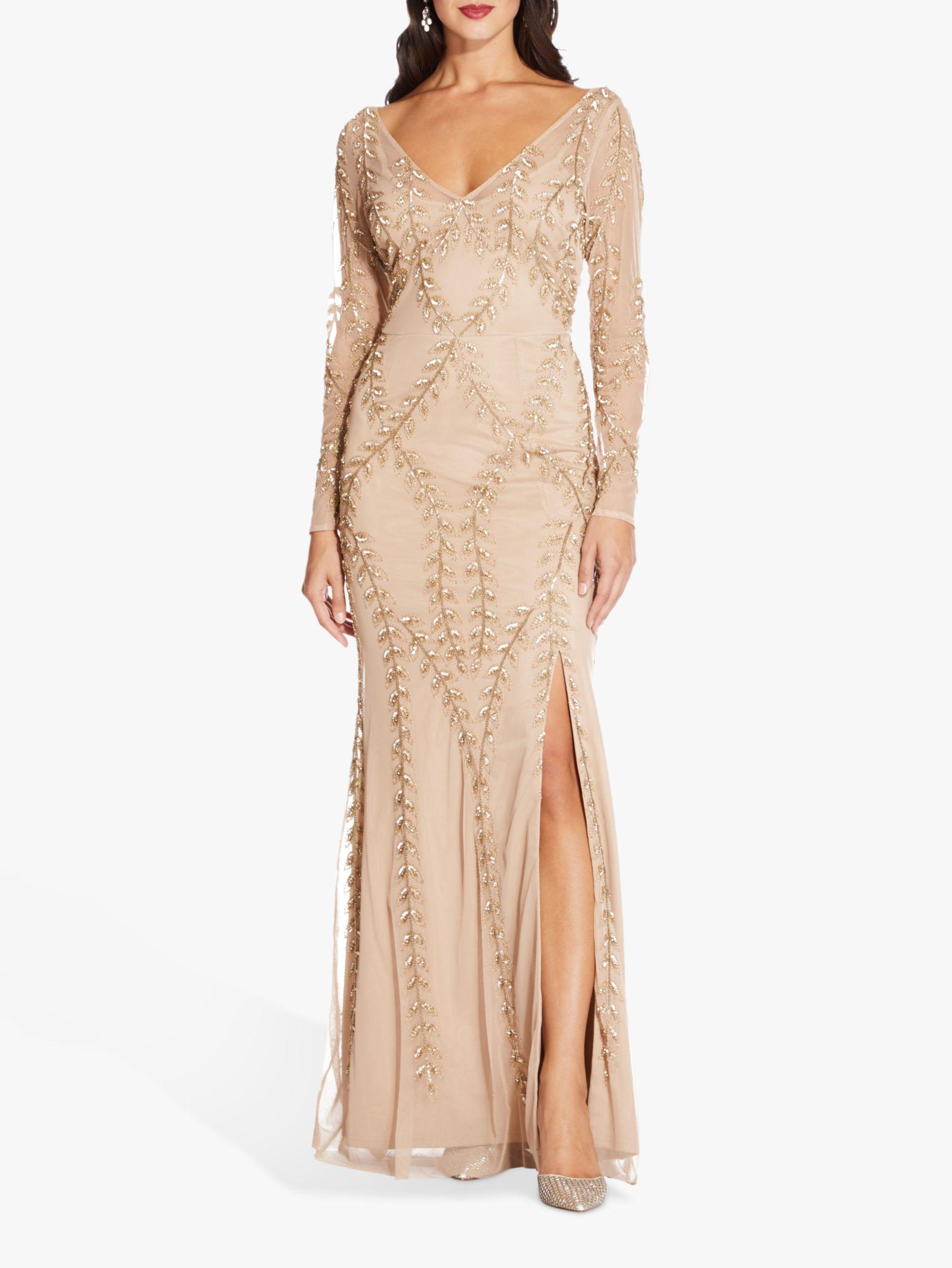 Long Beaded Dresses,Long Beaded Dresses, Long Sleeve Beaded Dress,Long Sleeve Beaded Dress,Champagne Beaded Dress,beaded dress,