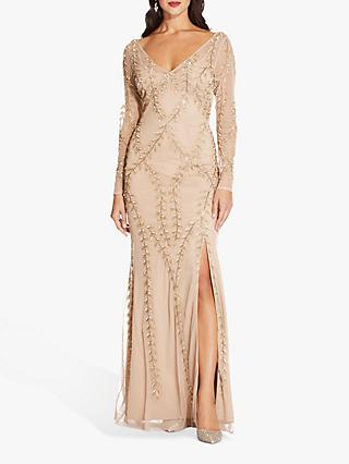 e0971b96e7f Adrianna Papell Long Sleeve Beaded Dress