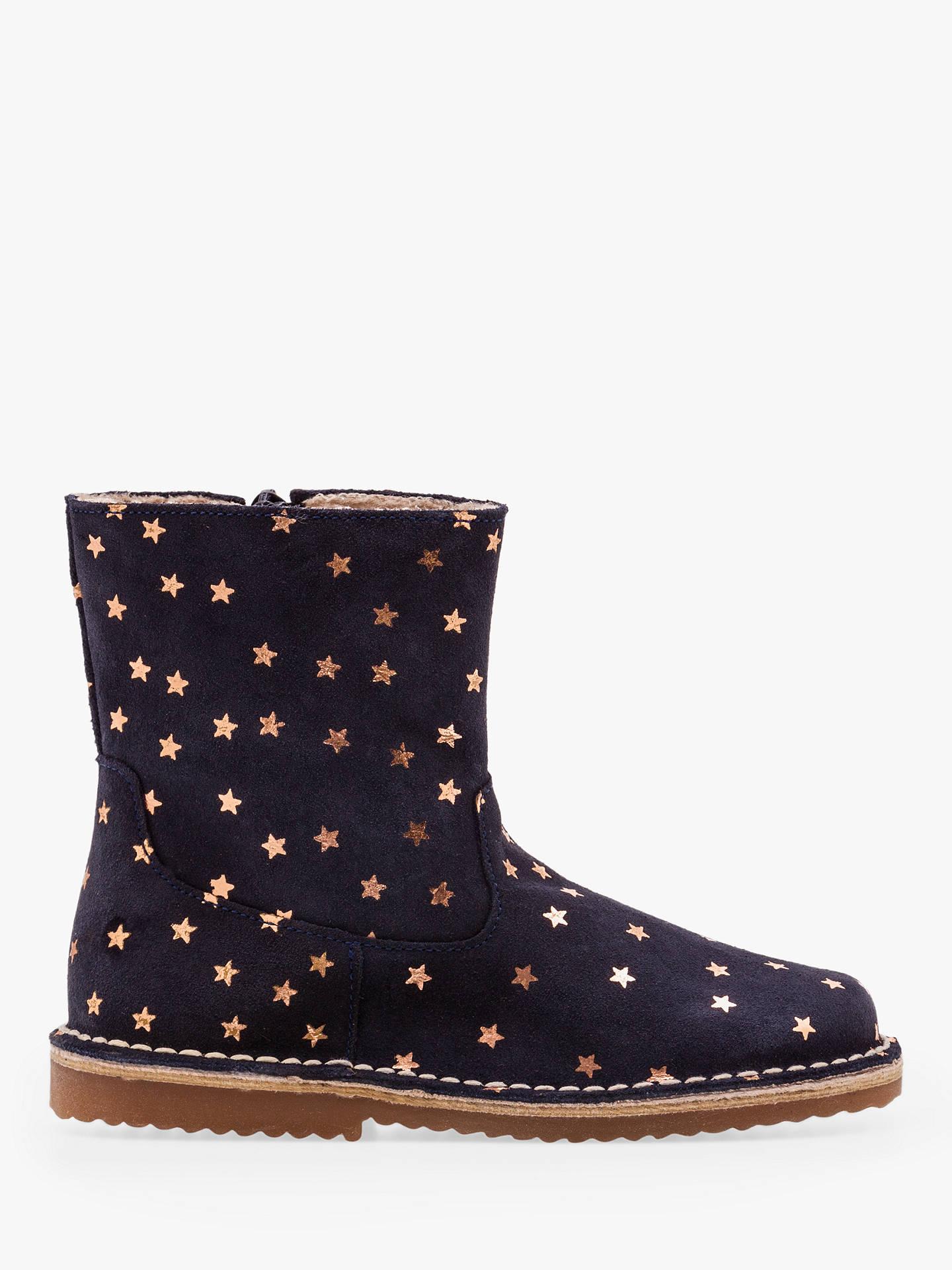 Mini Boden Children S Leather Star Boots Navy At John