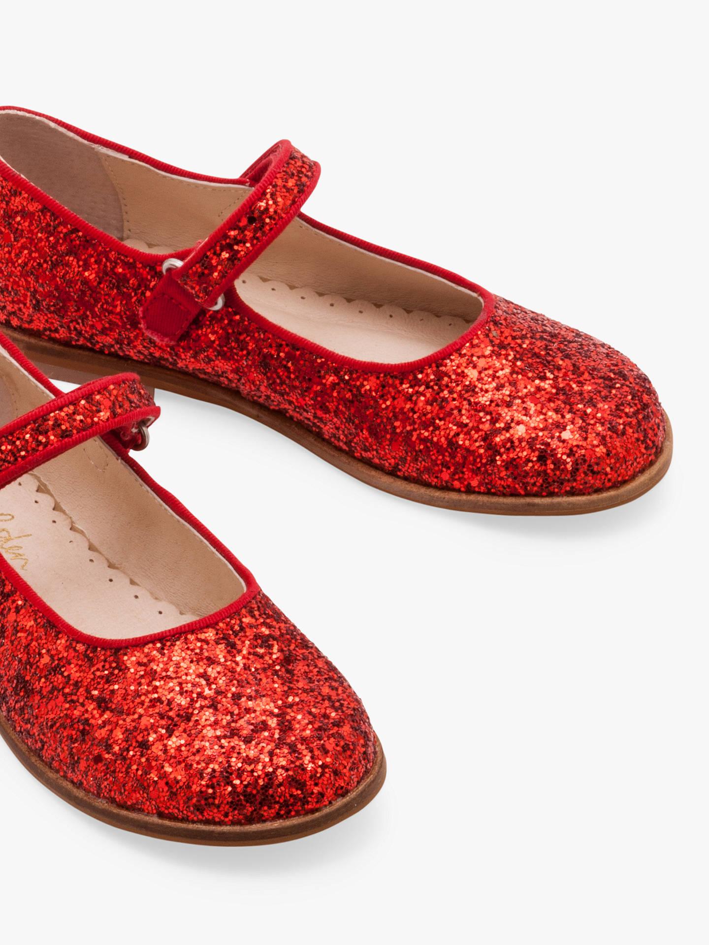 Mini Boden Children S Glitter Mary Jane Shoes Red At John