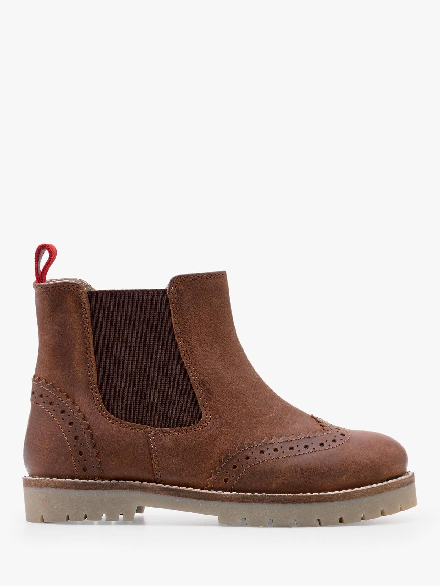 Mini Boden Children S Leather Chelsea Boots Tan At John