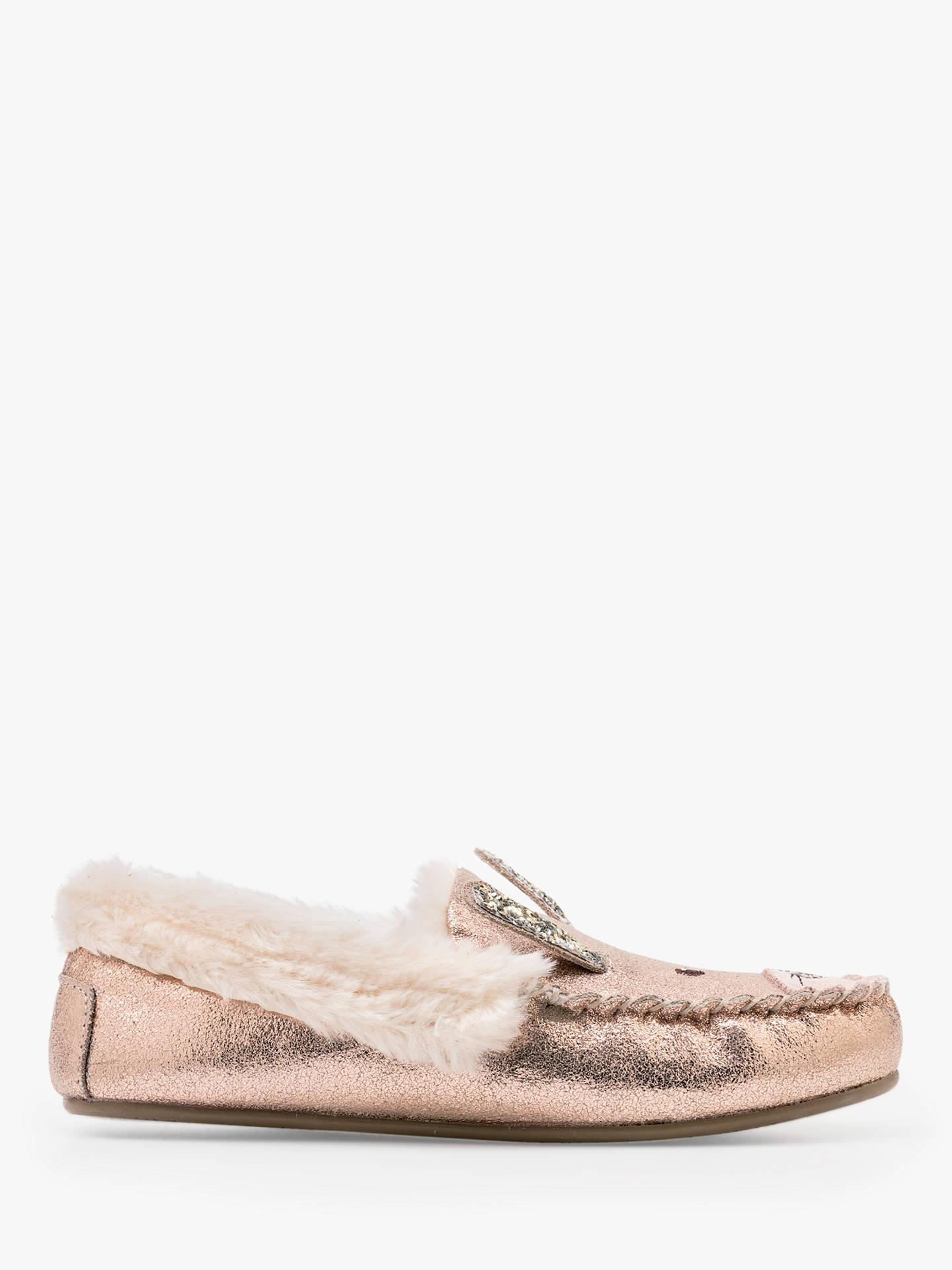 8b61909ec276 Buy Mini Boden Children s Sue Metallic Suede Slippers