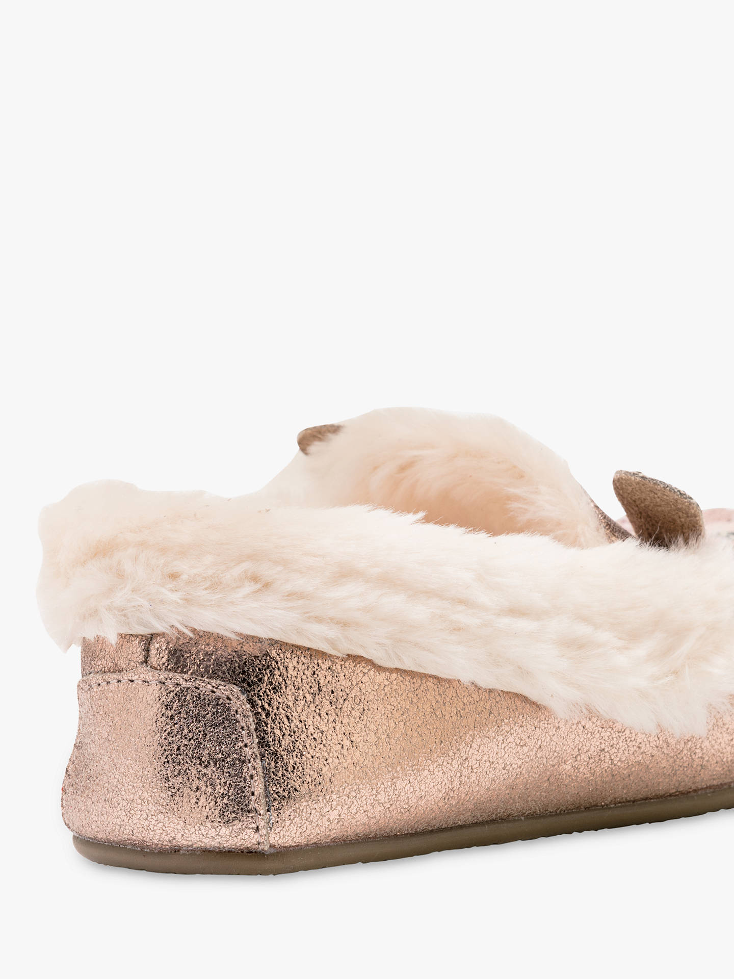 7bfc7f113f654 ... Buy Mini Boden Children's Sue Metallic Suede Slippers, Rose Gold, 34  Online at johnlewis ...