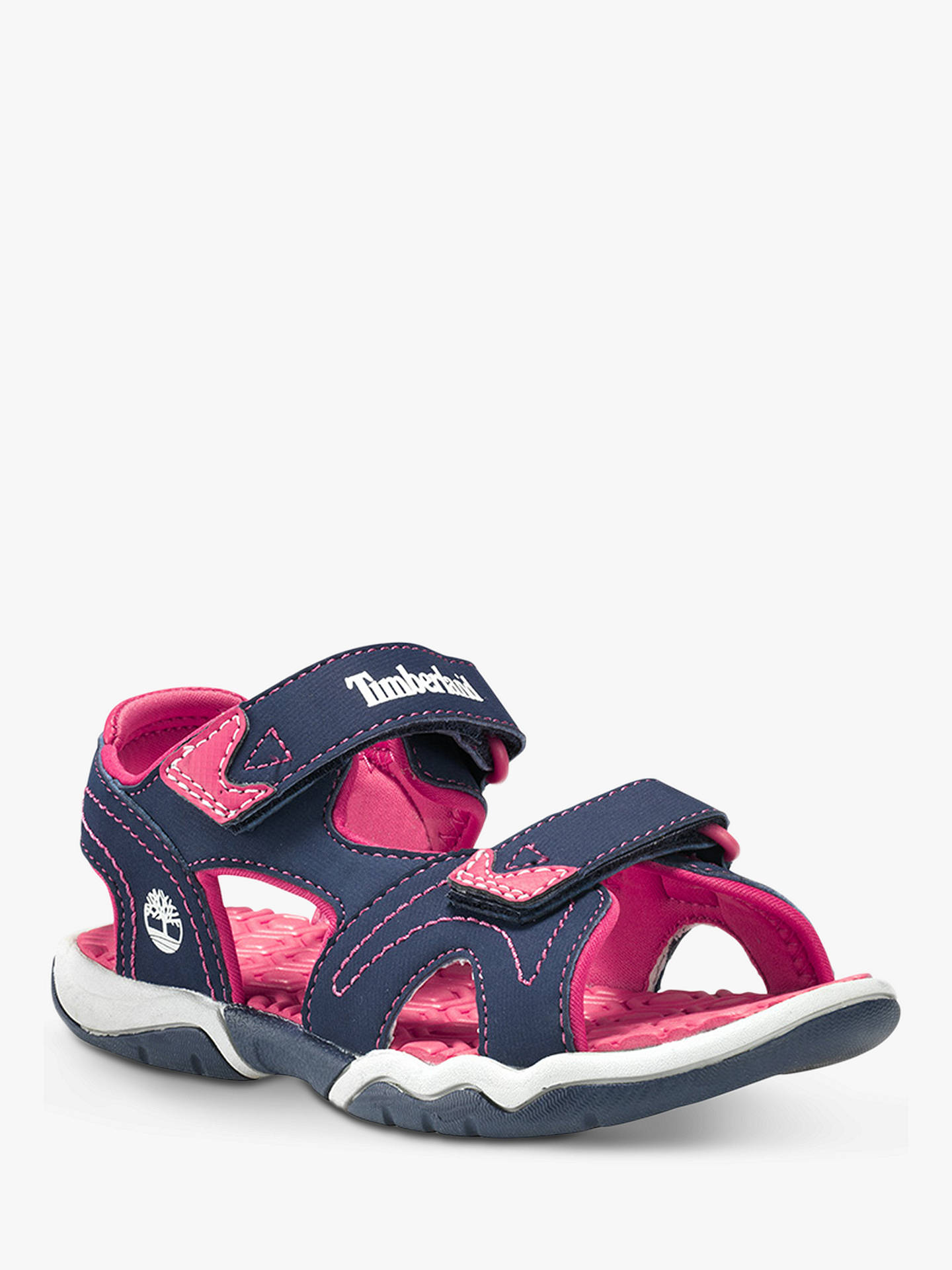 diseño profesional buscar oficial venta caliente real Timberland Children's Adventure Seeker Rip-Tape Sandals, Navy/Pink ...