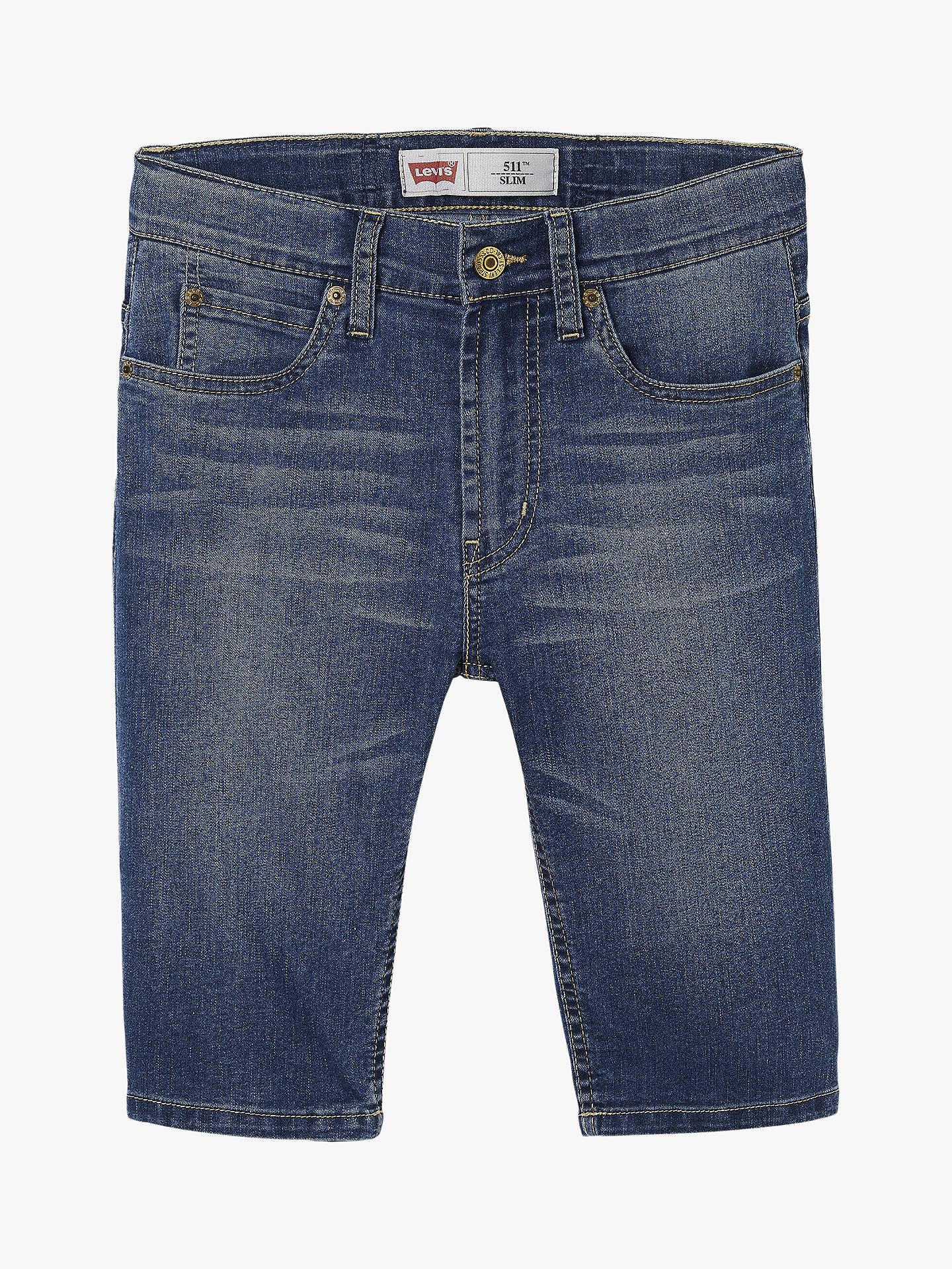 b3d5c704b Buy Levi's Boys' 511 Denim Slim Bermuda Shorts, Indigo, 6 years Online at  ...