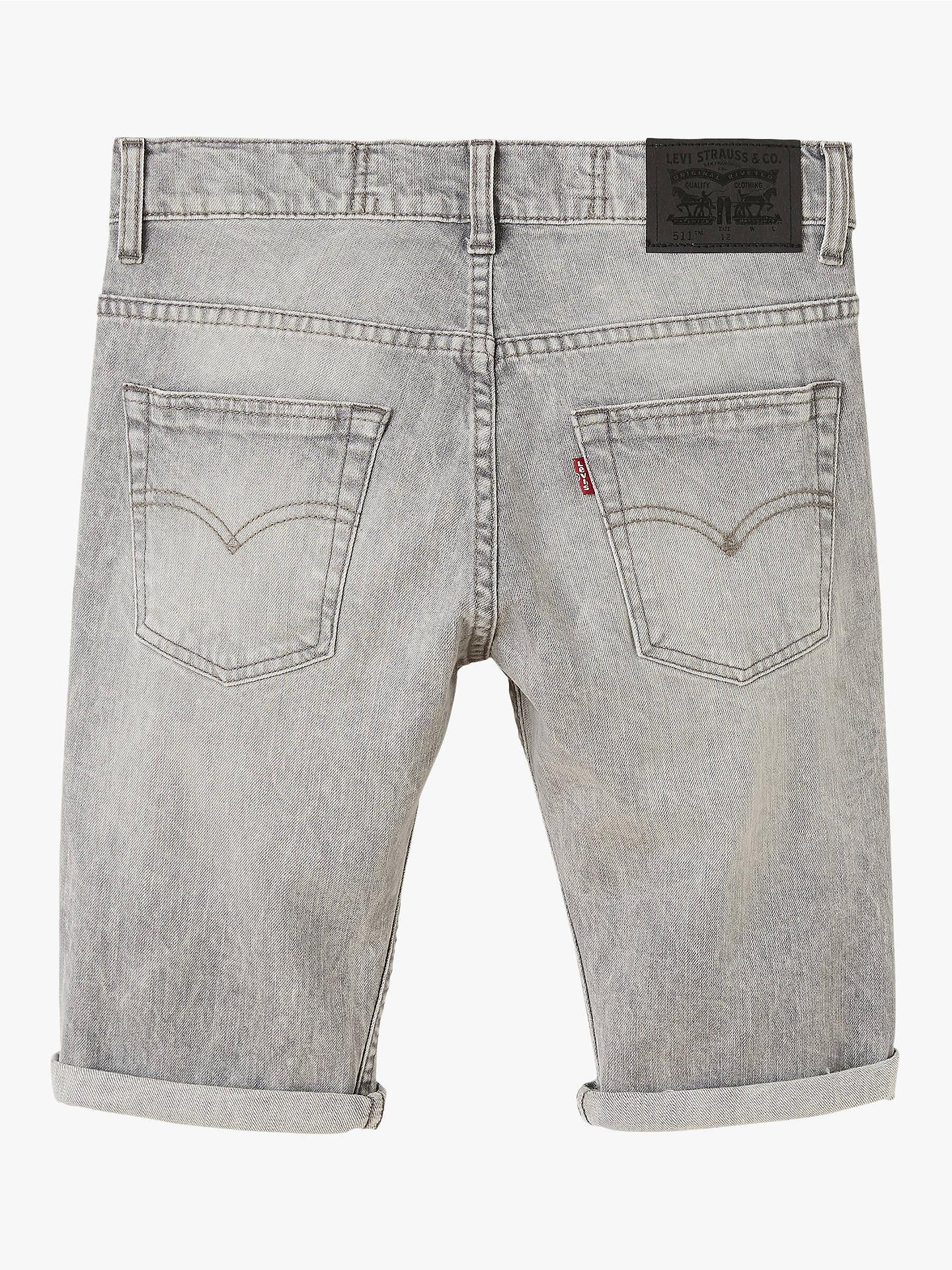 7ff938170c ... Buy Levi's Boys' 511 Denim Bermuda Shorts, Grey, 6 years Online at  johnlewis