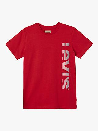 Levi's Boys' Reflective Logo T-Shirt, Red