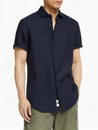 John Lewis & Partners Regular Fit Short Sleeve Linen Shirt
